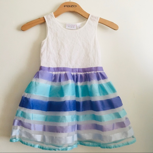 THE CHILDRENS PLACE size 5T formal dress purple